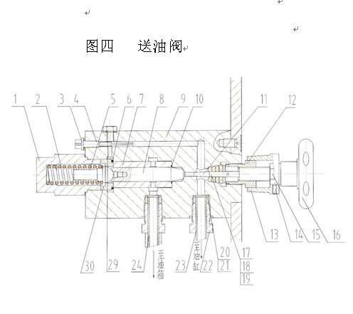 回油阀装配图-NYL 300型压力试验机使用说明书